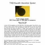TAD-Kandilli Astrofizik Günleri – 5