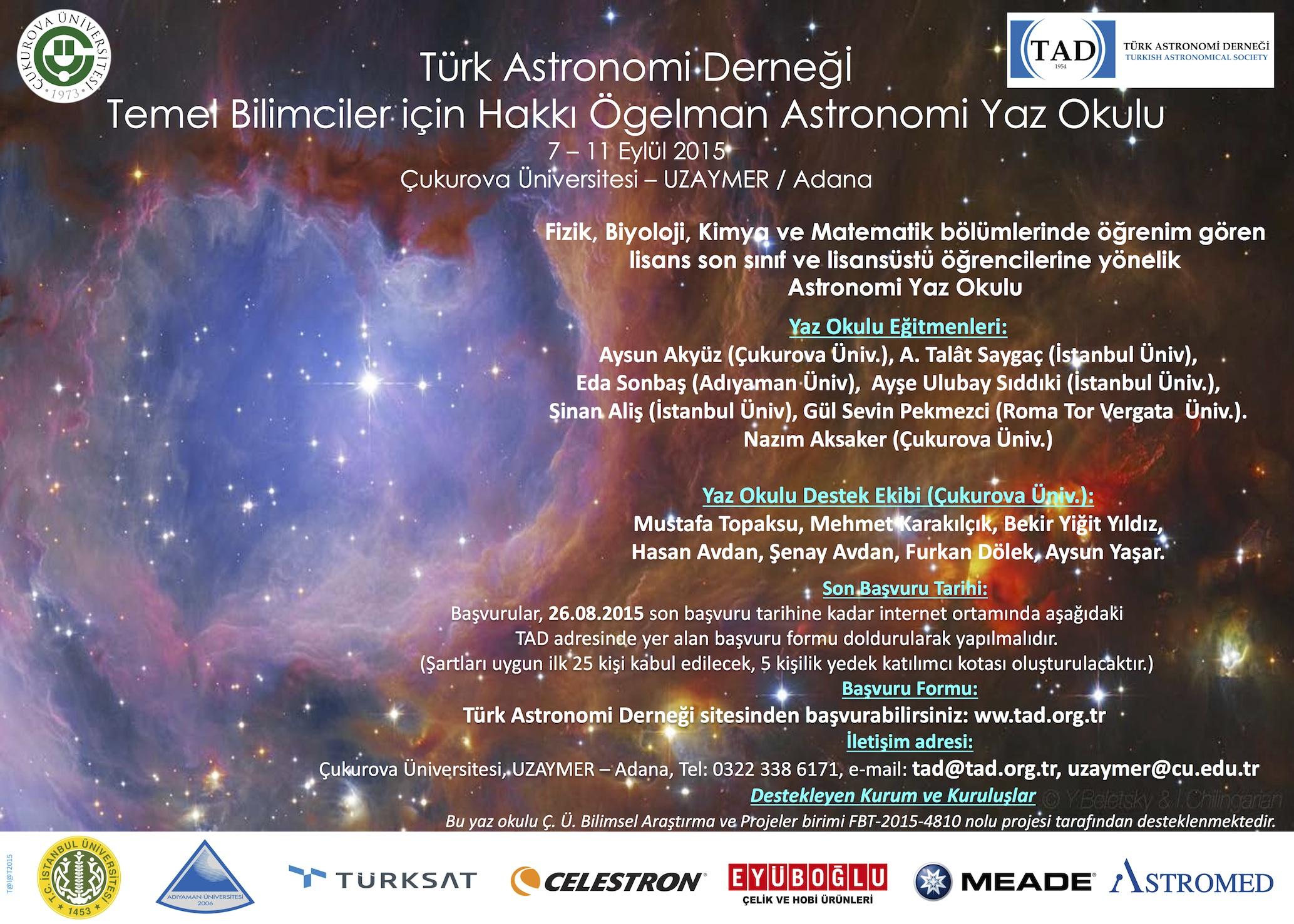 Ders optik ve teleskopların temelleri astronomi ve astrofizik
