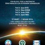Astronomi Öğretmen Seminerleri: Kozmik Serüven