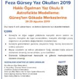 Hakkı Ögelman Yaz Okulu 2019: Astrofizikte Modelleme – Güneş'ten Gökada Merkezlerine