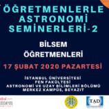 Öğretmenlerle Astronomi Seminerleri-2