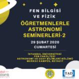 Öğretmenlerle Astronomi Seminerleri – 2